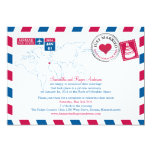 Spain Air Mail Post Wedding Reception Custom Invitation