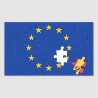 Spain and European Union Rectangular Stickers