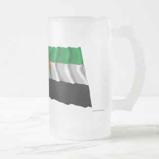 Spain and Extremadura waving flags Frosted Glass Beer Mug