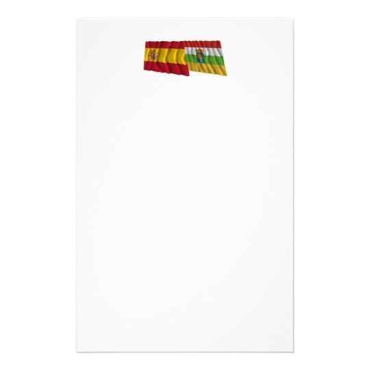 Spain and La Rioja waving flags Stationery