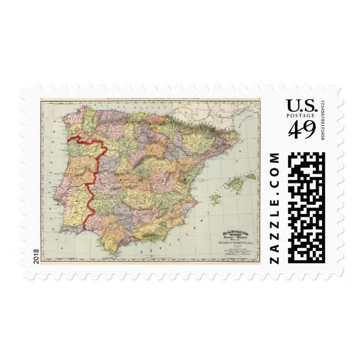Spain and Portugal 14 Postage Stamps