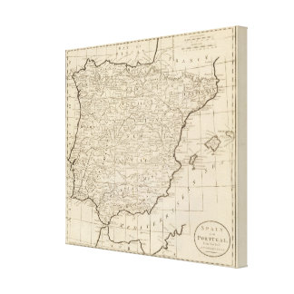 Spain and Portugal 15 Stretched Canvas Print