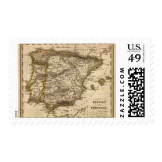Spain and Portugal 8 Postage Stamp