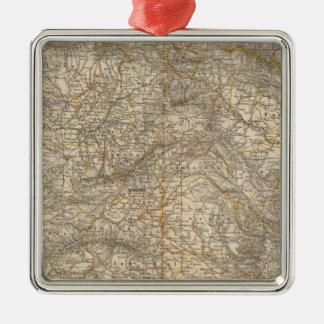 Spain And Portugal Atlas Map Metal Ornament