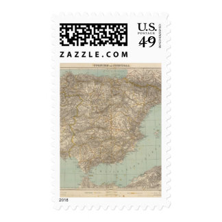 Spain And Portugal Atlas Map Postage
