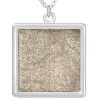 Spain And Portugal Atlas Map Silver Plated Necklace