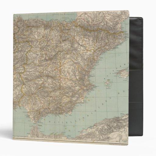 Spain And Portugal Atlas Map Vinyl Binder
