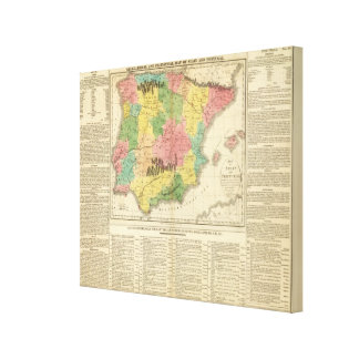 Spain and Portugal Chronology Map Canvas Prints