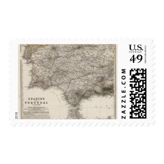 Spain and Portugal, four leaves Postage Stamp