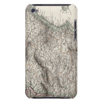 Spain and Portugal Map by Stieler iPod Case-Mate Cases