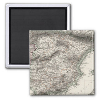 Spain and Portugal Map by Stieler Magnet