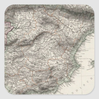 Spain and Portugal Map by Stieler Stickers