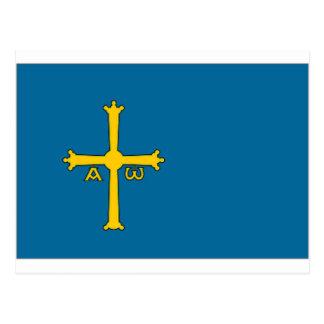 Spain Asturias Flag Postcard