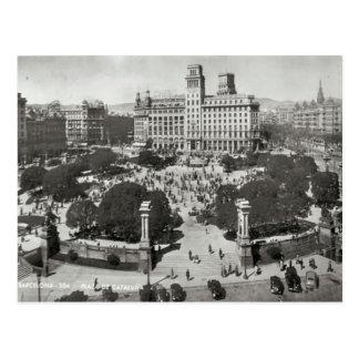 Spain, Barcelona, copy of Vintage postcard