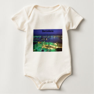 Spain Barcelona Night View (St.K) Baby Bodysuit