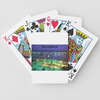 Spain Barcelona Night View (St.K) Bicycle Playing Cards