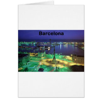 Spain Barcelona Night View (St.K) Greeting Card