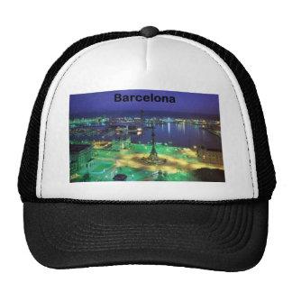 Spain Barcelona Night View St K Mesh Hats