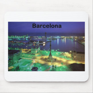 Spain Barcelona Night View (St.K) Mouse Pad