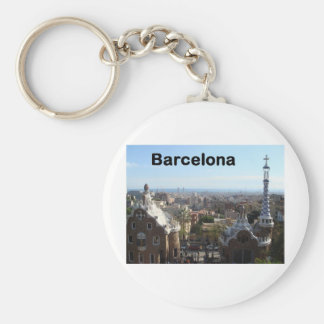 Spain Barcelona View (St.K) Basic Round Button Keychain