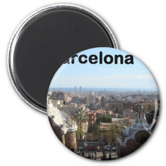 Spain Barcelona View (St.K) 2 Inch Round Magnet