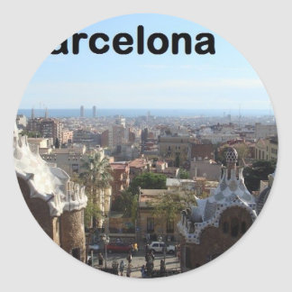 Spain Barcelona View (St.K) Classic Round Sticker