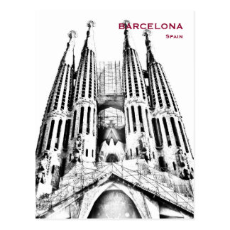 Spain Barcelona Vintage Travel Tourism Add Postcard