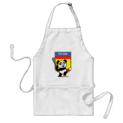 Apron with Spain Baseball Panda design