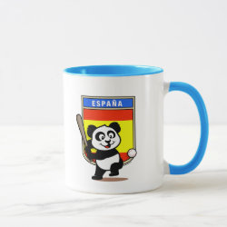 Combo Mug with Spain Baseball Panda design