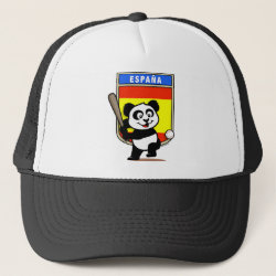 Spain Baseball Panda Trucker Hat