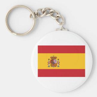 Spain Basic Round Button Keychain