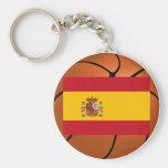Spain Basketball Team Basic Round Button Keychain