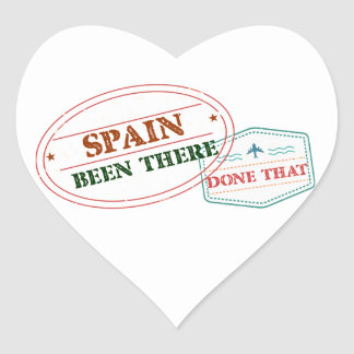 Spain Been There Done That Heart Sticker