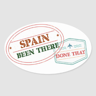 Spain Been There Done That Oval Sticker