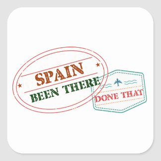 Spain Been There Done That Square Sticker