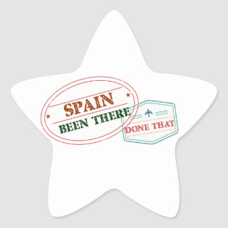 Spain Been There Done That Star Sticker