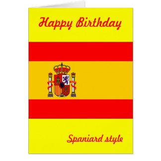 Spain birthday greeting card