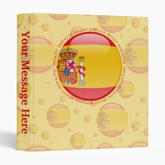 Spain Bubble Flag Binder