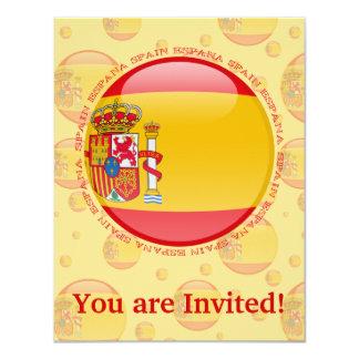 Spain Bubble Flag Card