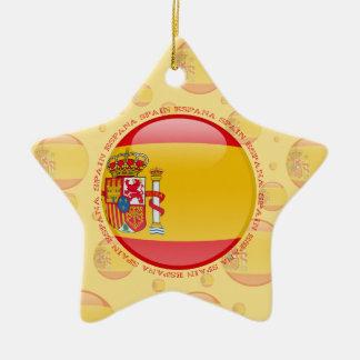 Spain Bubble Flag Ceramic Ornament