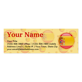 Spain Bubble Flag Double-Sided Mini Business Cards (Pack Of 20)