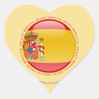 Spain Bubble Flag Heart Sticker