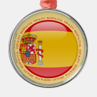 Spain Bubble Flag Metal Ornament