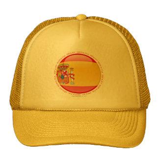 Spain Bubble Flag Trucker Hat