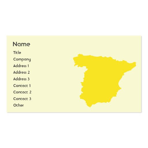 Spain - Business Business Card Templates