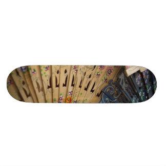 Spain, Cadiz Province, Seville. Historic Santa Skateboard Deck