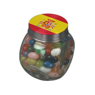Spain Glass Candy Jars