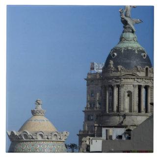 Spain, Catalonia, Barcelona. Barcelona roof top 2 Ceramic Tile