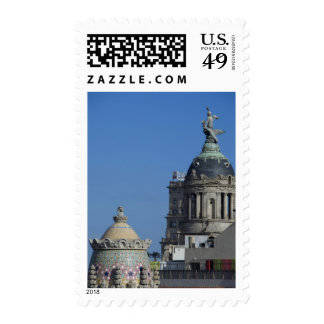 Spain, Catalonia, Barcelona. Barcelona roof top 2 Postage Stamps