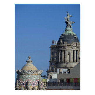 Spain, Catalonia, Barcelona. Barcelona roof top 2 Postcard